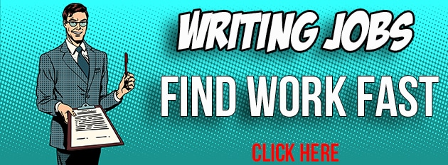 writing jobs find work banner animated illustration
