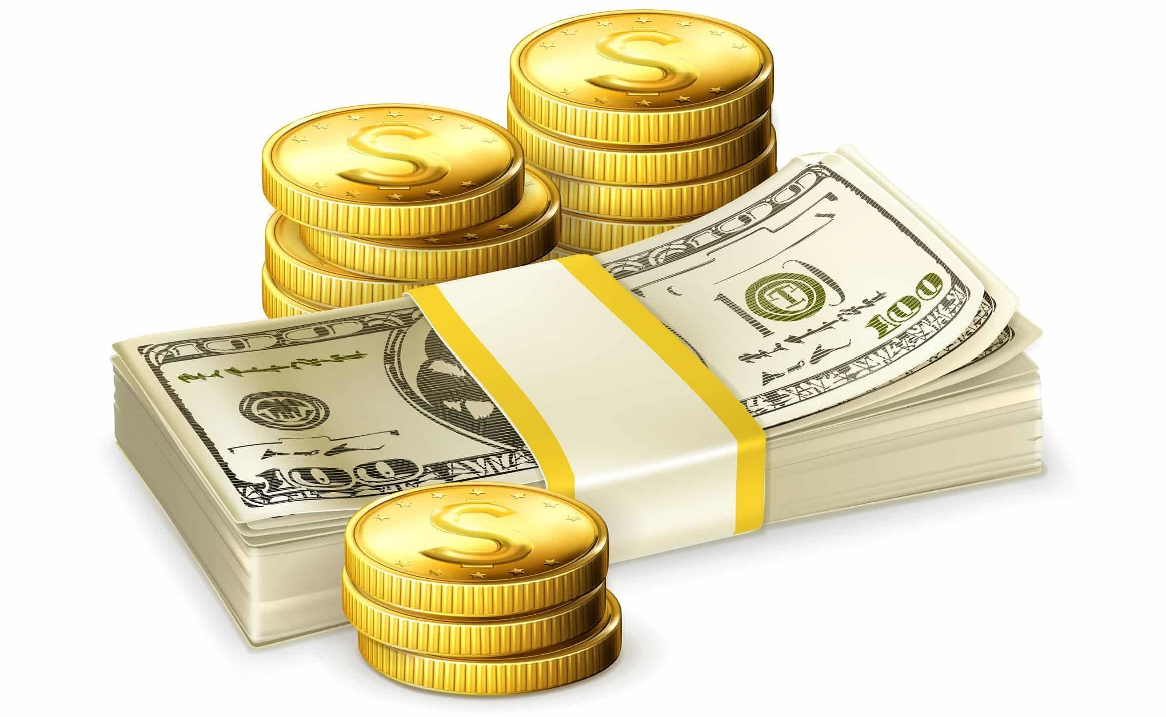 get paid what you are worth get a better salary animated illustration paper cash dollars and coins