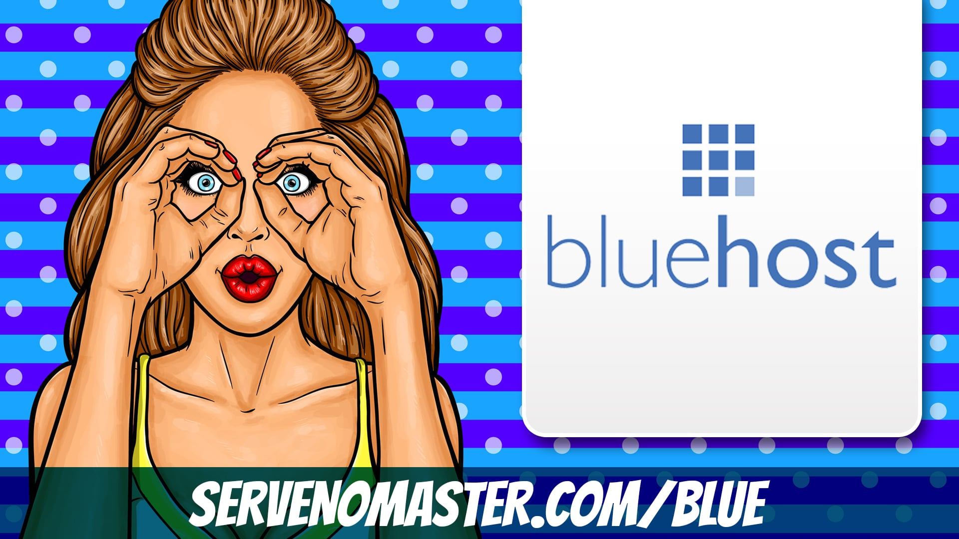 animated banner for affiliate link blue host