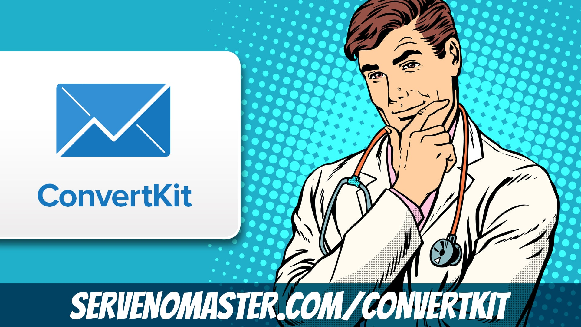 convert kit affiliate banner a doctor conversion animated illustration