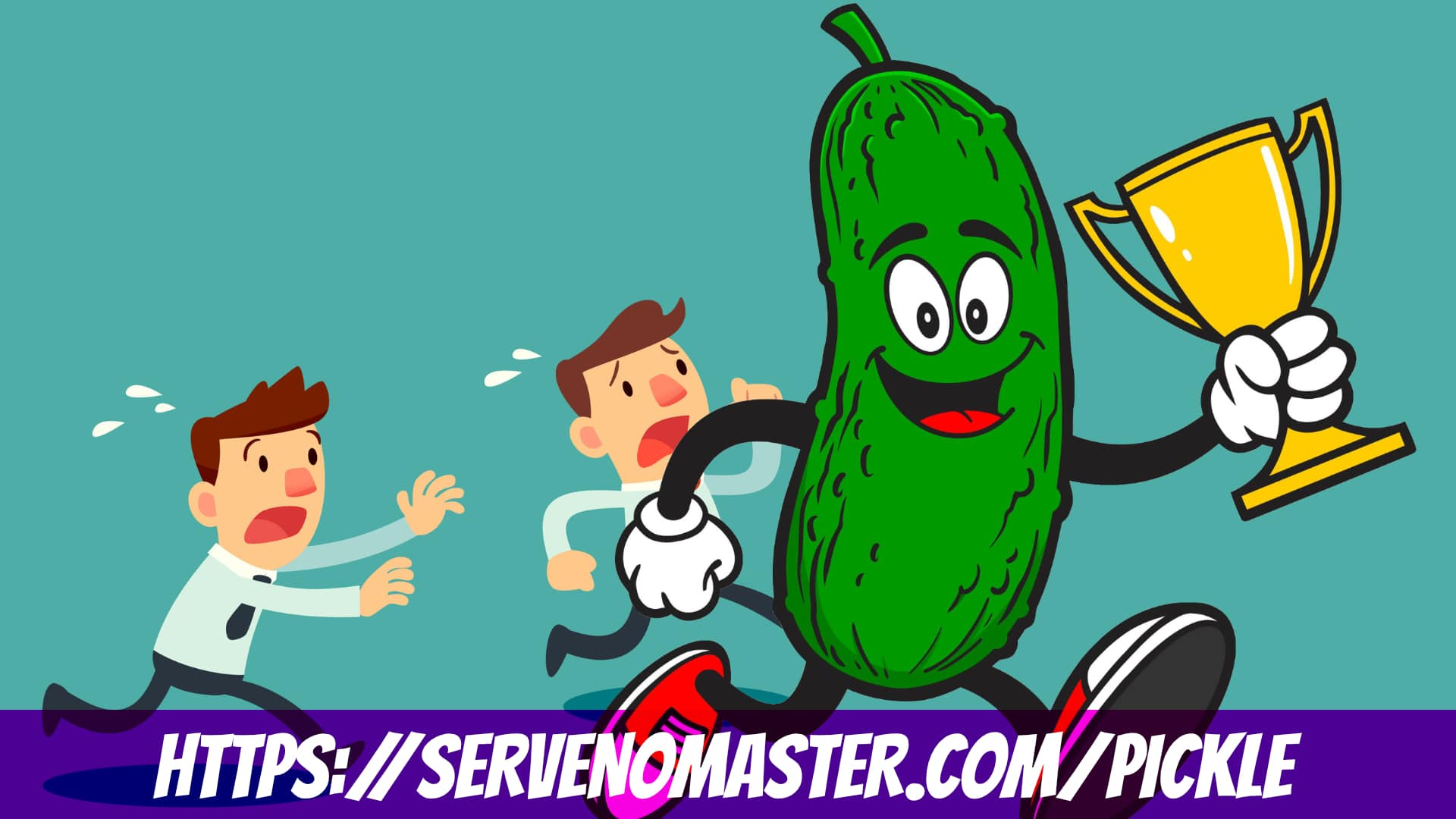 affiliate animated banner for design pickle a running pickle
