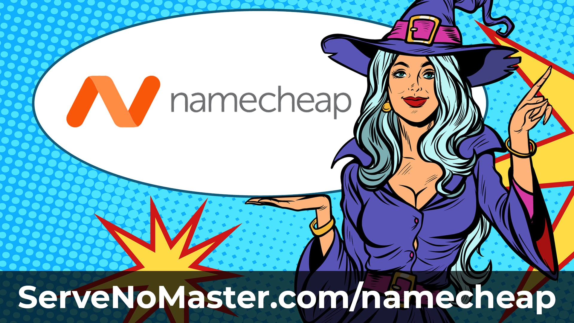 namecheap banner animated witch new domain name