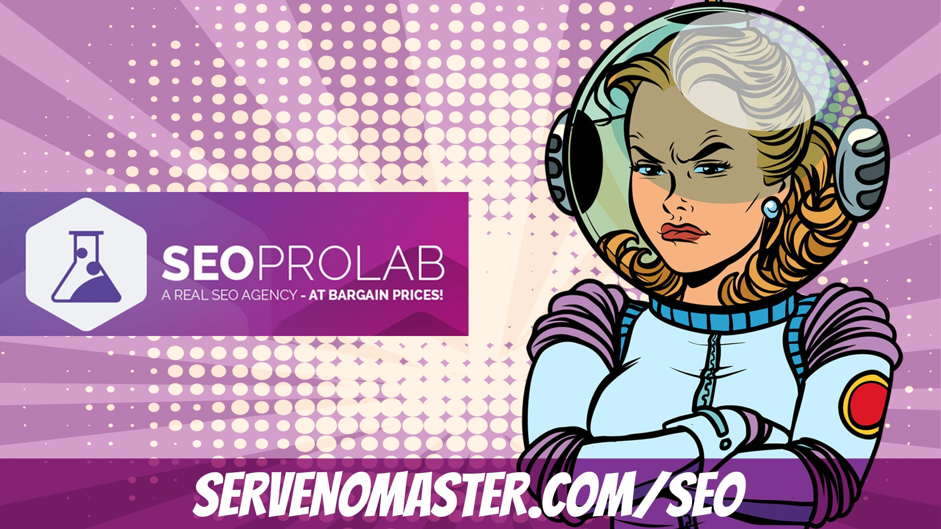 seopo lab banner woman animated illustration