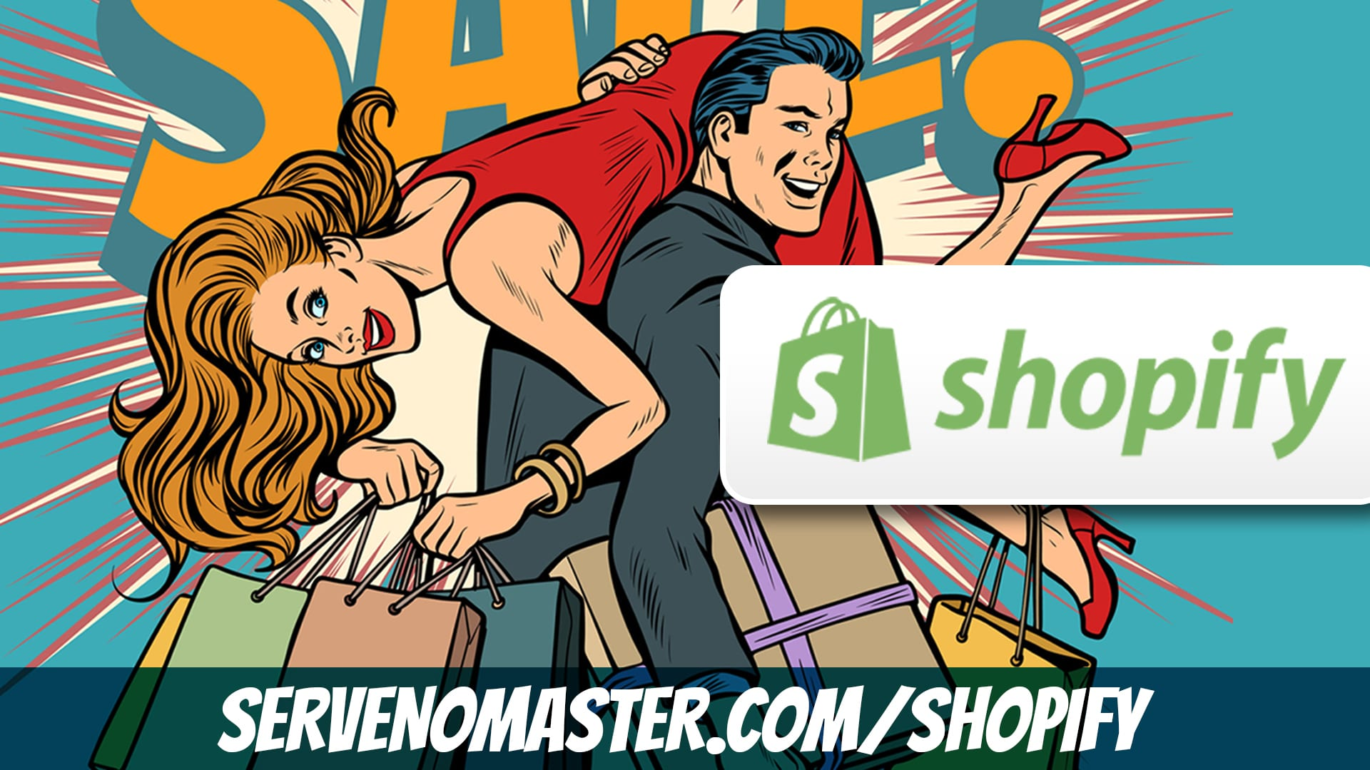 animated banner happy shopping shopify affiliate