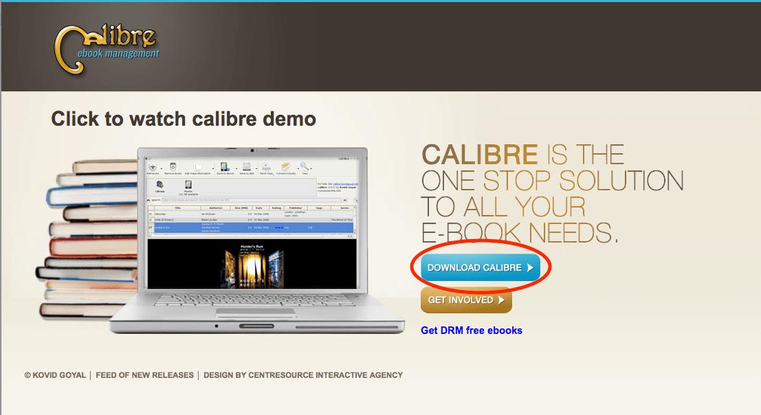 CalibreHomepage