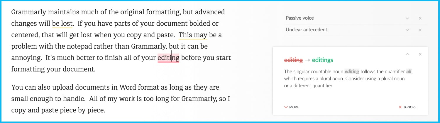 Grammarly Review - does grammarly make mistakes