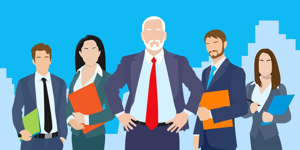 Business Allies good networking animated illustration