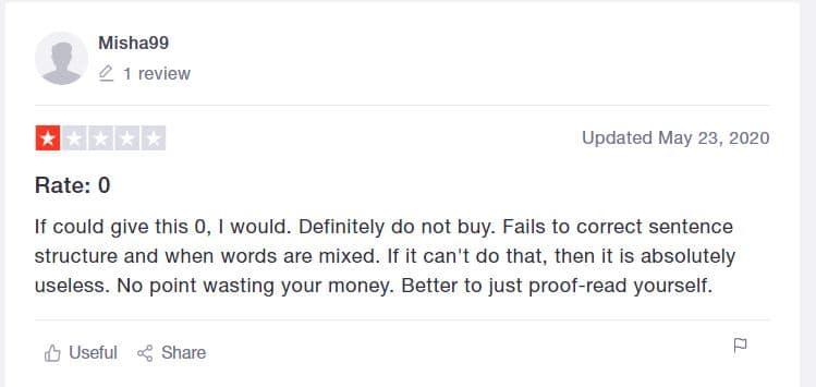 grammarly complaint