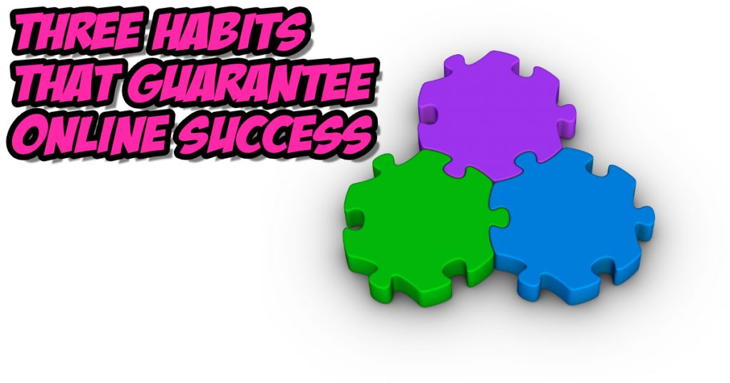 three habits for online business success illustration