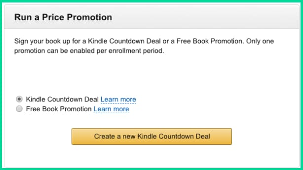 Amazon KDP Select Countdown Deals