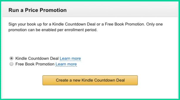 Amazon KDP Select Countdown Deals