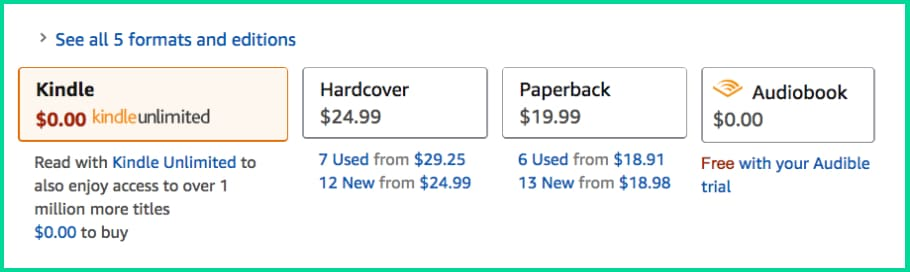 Multiple Book Formats for Amazon