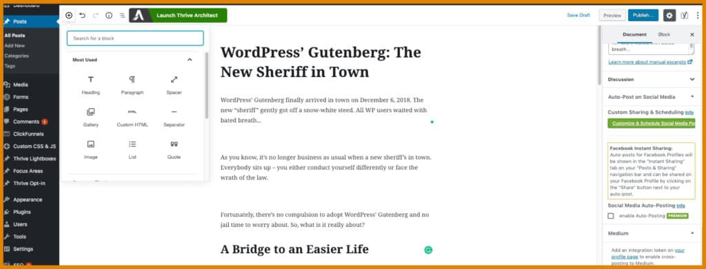 Gutenberg Editor in Action
