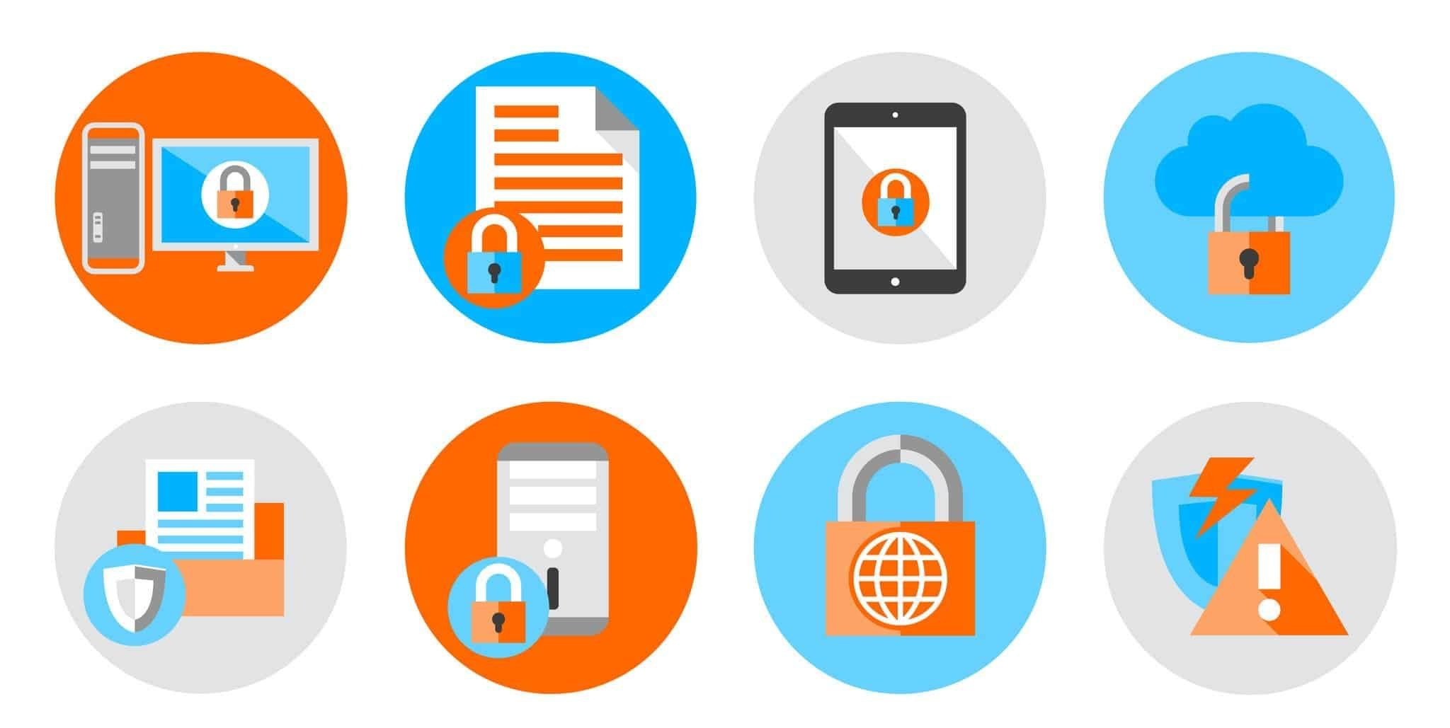 cyber security icons word press plugins icons how to launch a blog how to boost word press with plugins animated illustration