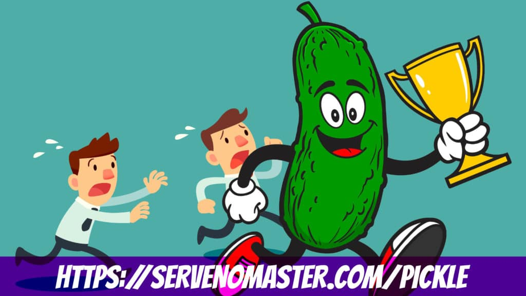 design pickle a running pickle graphic design