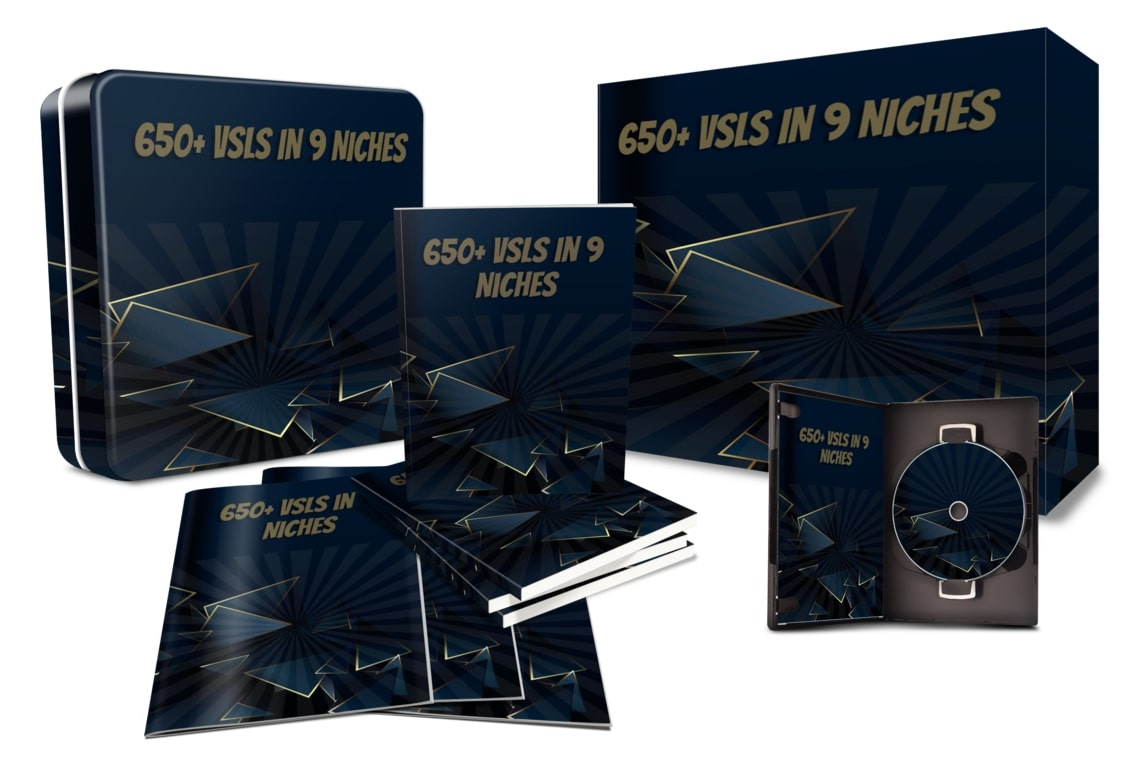 650+ High-Converting Video Sales Letters In 9 Different Niches Swipe File